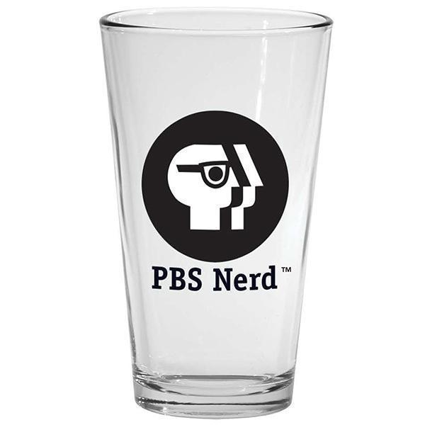 PBS Nerd 16 oz. Drinking Glass