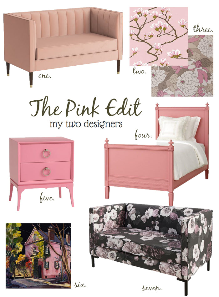 Pink Furniture and Accessories from My Two Designers