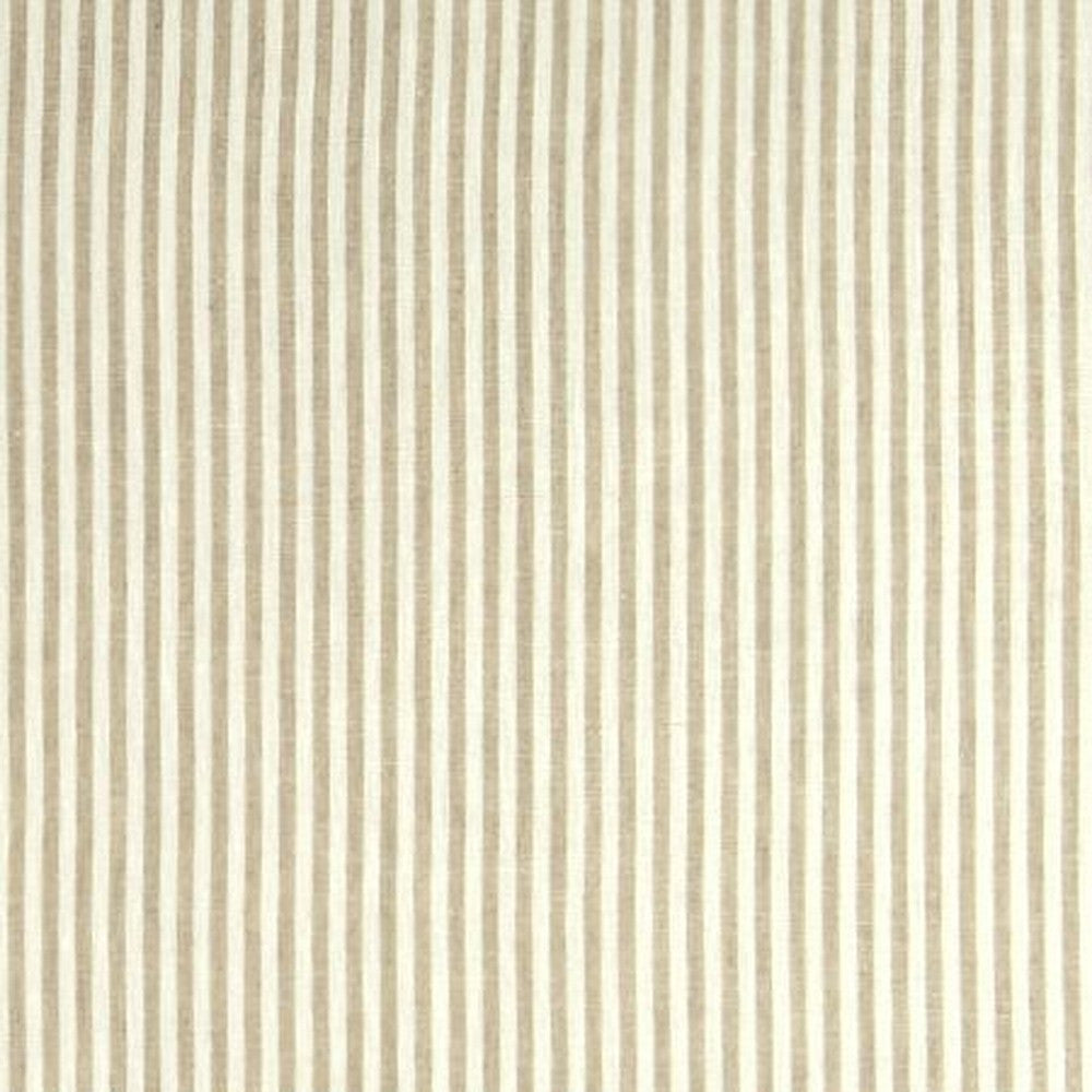 Clarke & Clarke Fabric by the Yard:  Bitty Linen Stripe in Natural