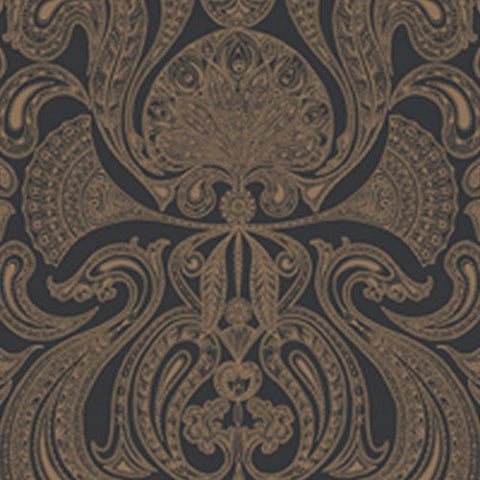 Cole And Son Malabar Wallpaper in Chocolate