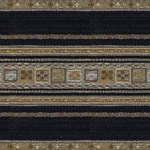 Kravet Fabric by the Yard:  Banded in Ebony