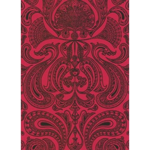 Cole And Son Groovy Paisley Wallpaper in Red