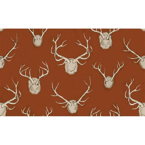 Kravet Fabric by the Yard:  Antlers in Rust