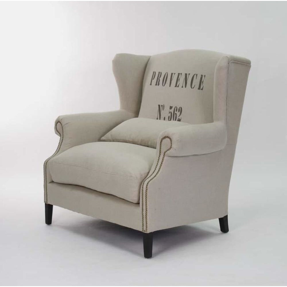Zentique Napoleon Half Wing Chair in Provence
