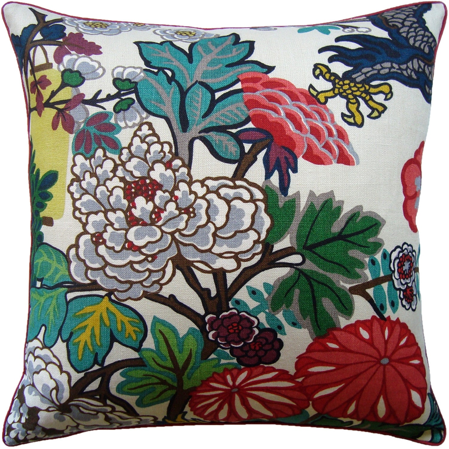 Ryan Studio Chiang Dragon Pillow in Alabaster