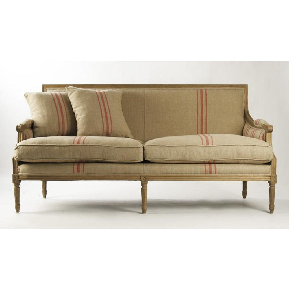 Zentique Louis Sofa in Red Stripe