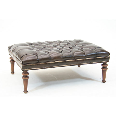 Old Hickory Tannery Willard Ottoman