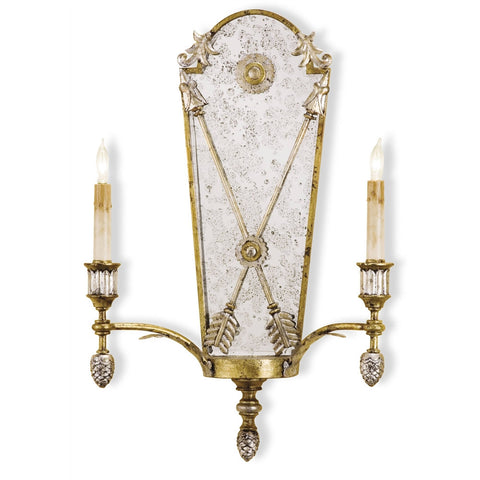 Currey & Company Napoli Wall Sconce, Two Light