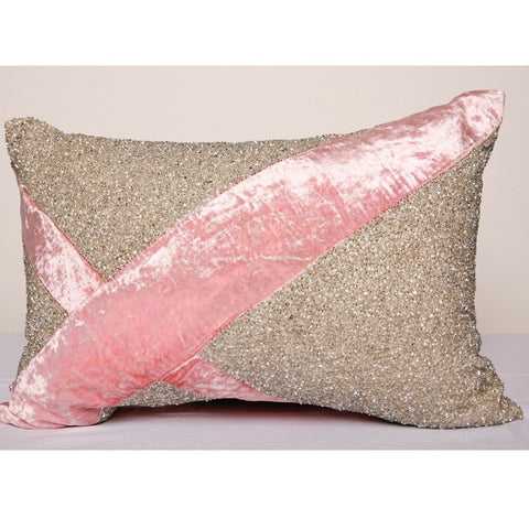 Pyar Lantana Pillow in Pink