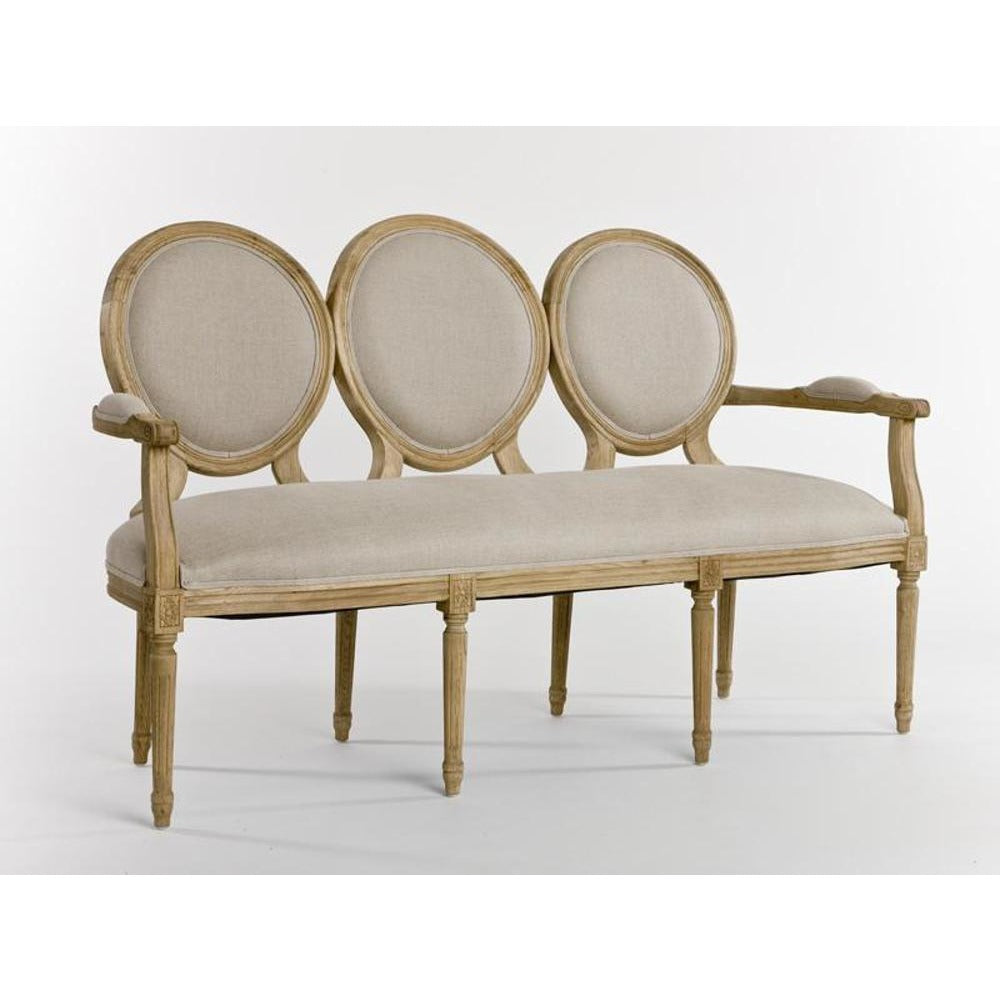 Zentique Medallion Settee in Natural
