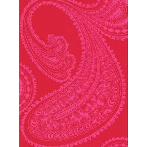 Cole And Son Paisley Wallpaper in Pink/Red
