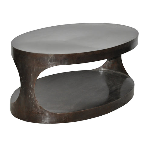 Noir Eclipse Oval Coffee Table