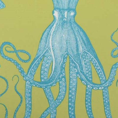 Duralee Fabric by the Yard: Octopus in Lime
