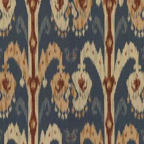 Kravet Fabric by the Yard:  Ikat in Navy