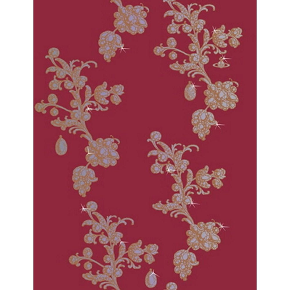 Cole And Son Droplet Wallpaper in Rouge