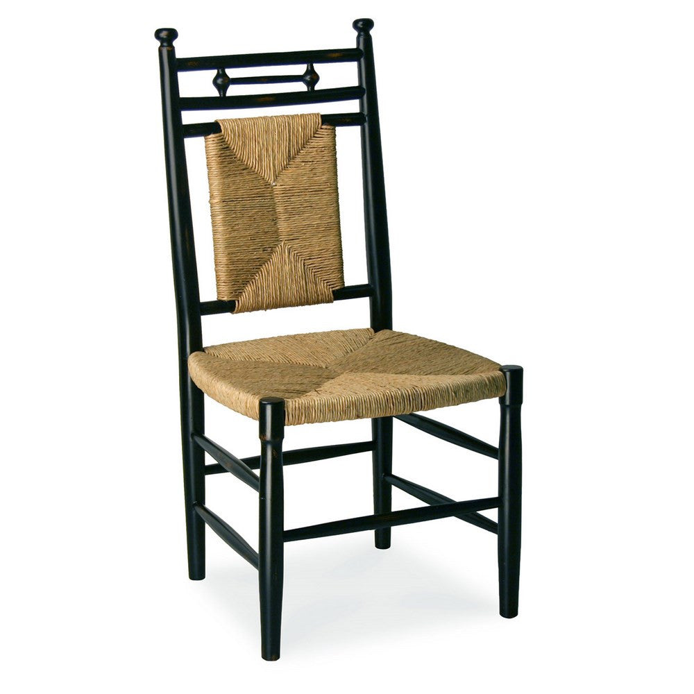 Redford House Abigail Dining Arm Chair in Black