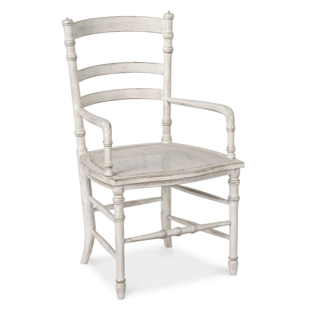 Redford House Swedish Cane Armchair in Raw Cotton