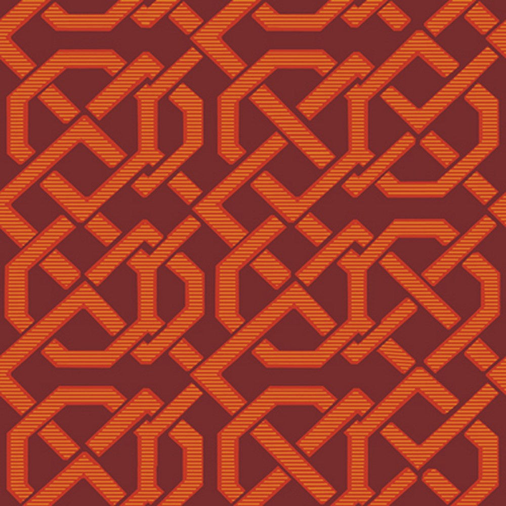 Cole And Son Links Wallpaper in Red