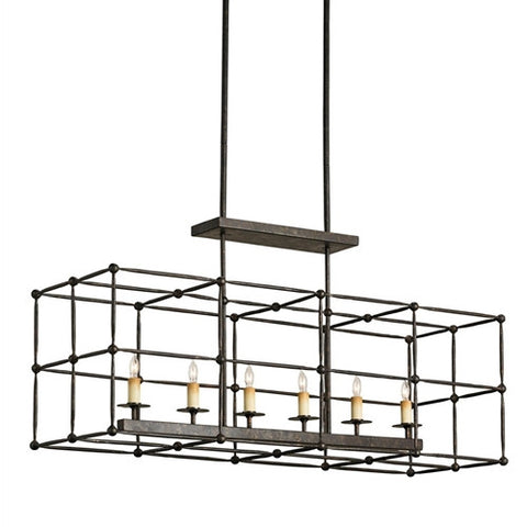 Currey & Company Fitzjames Rectangular Chandelier