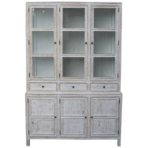 Noir Colonial Hutch, White Wash