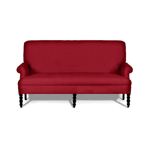 Kravet Bowie Settee In Red Velvet