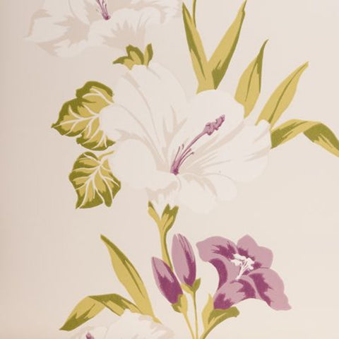 Clarke & Clarke Tahiti Double Roll Wallpaper in Mauve