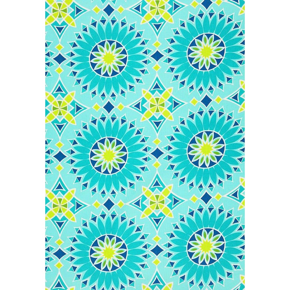 Fabric by the Yard: Soleil Print in Aqua