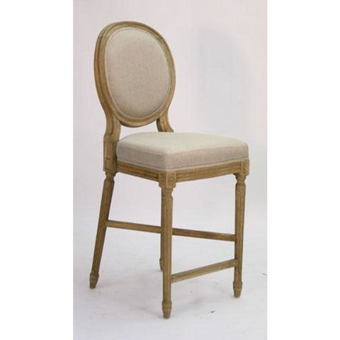 Zentique Medallion Counter Stool in Linen