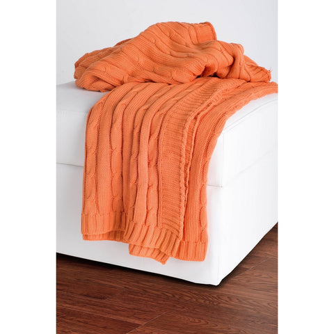 Rizzy Home Throw in Orange