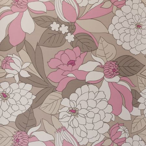 Clarke & Clarke Burst Double Roll Wallpaper in Pink