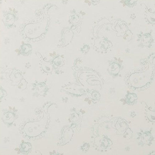 Clarke & Clarke Evelina Wallpaper in Duckegg