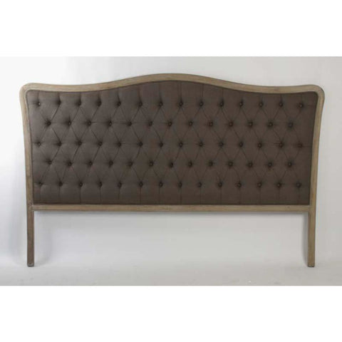 Zentique Maison Tufted Upholstered King Headboard in Aubergine