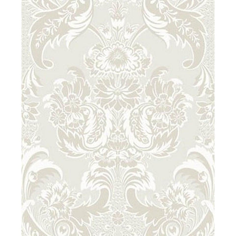 Cole And Son Wyndham Wallpaper in White/Pearl