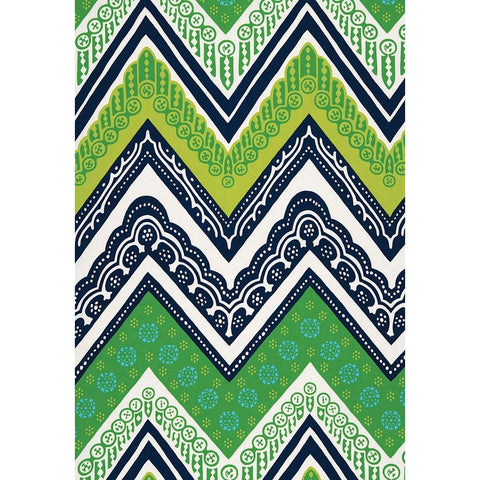 Fabric by the Yard:  Tangier Frame Print in Sea Grass