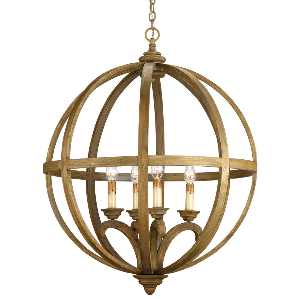 Currey & Company Axel Orb Chandelier, Large