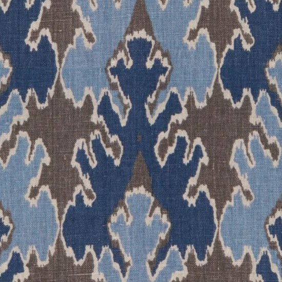 Kravet Fabric by the Yard Bengal Bazaar Grey/Indigo