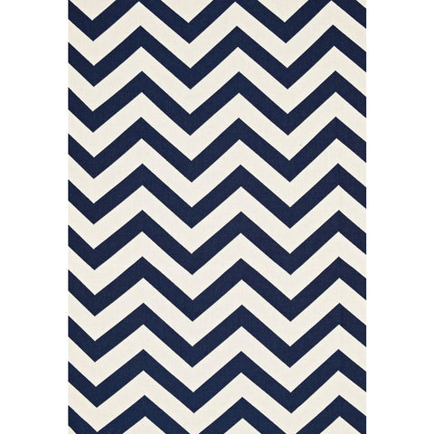 Fabric by the Yard:  Antibes Chevron in Navy