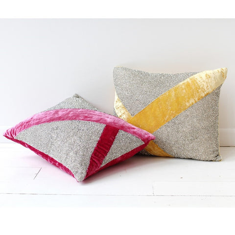 Pyar Lantana Pillow in Yellow