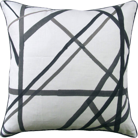 Ryan Studio Channels Pillow in Ebony