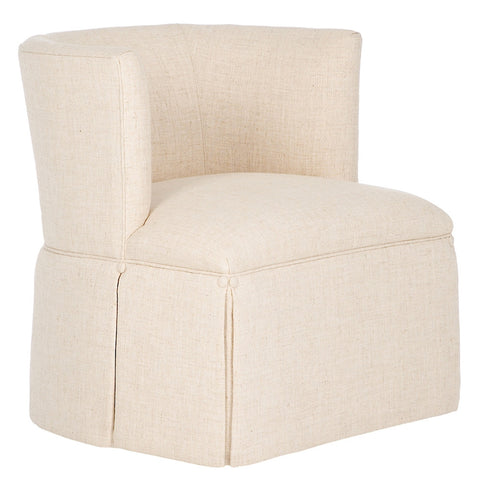 Kravet Sheila Swivel Chair In Crème