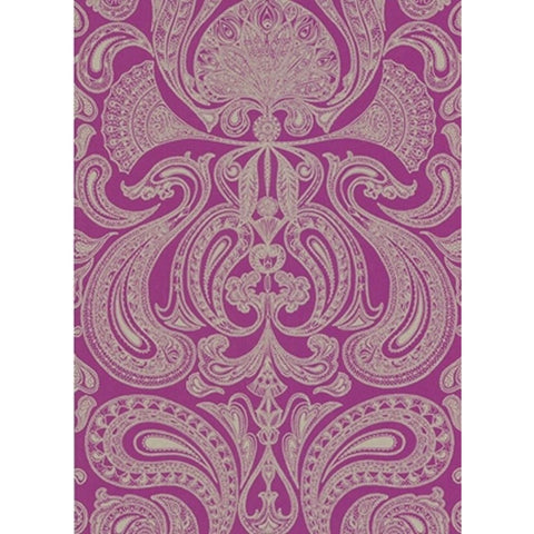 Cole And Son Groovy Paisley Wallpaper in Orchid
