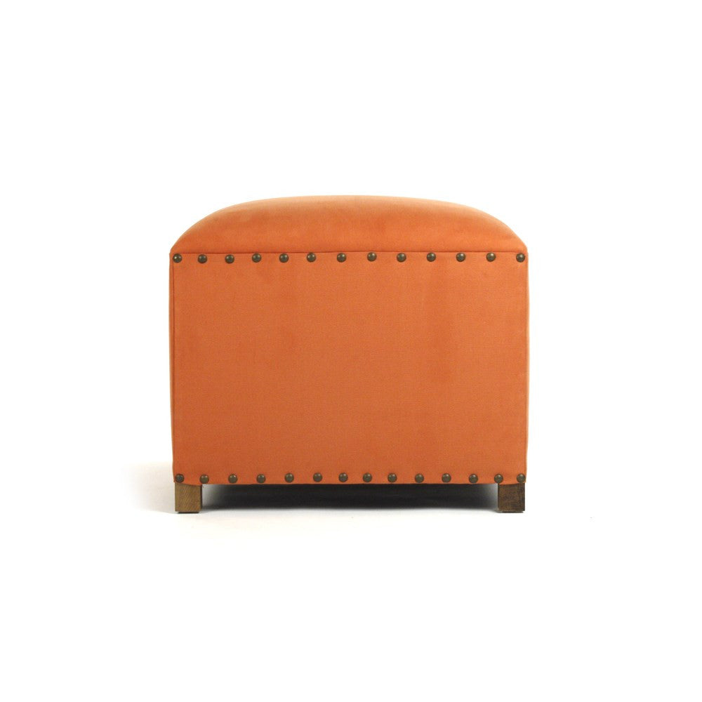 Zentique Orange Cube Stool