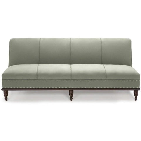 Duralee Cole 72' Armless Sofa In Platinum