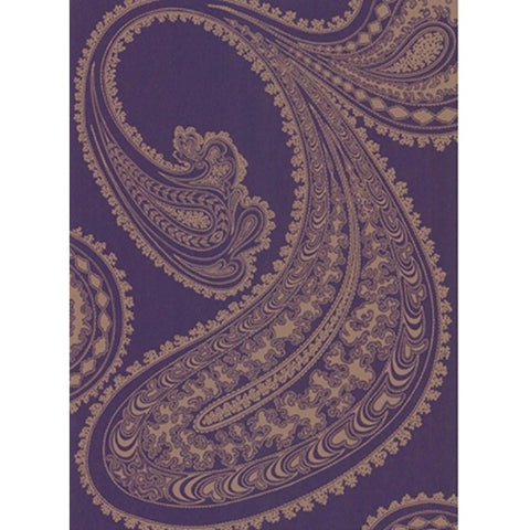Cole And Son Paisley Wallpaper in Eggplant