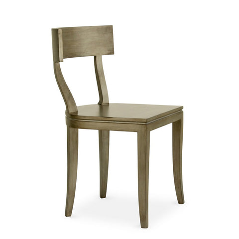 Redford House Thomas Side Chair in Tarnished Silver