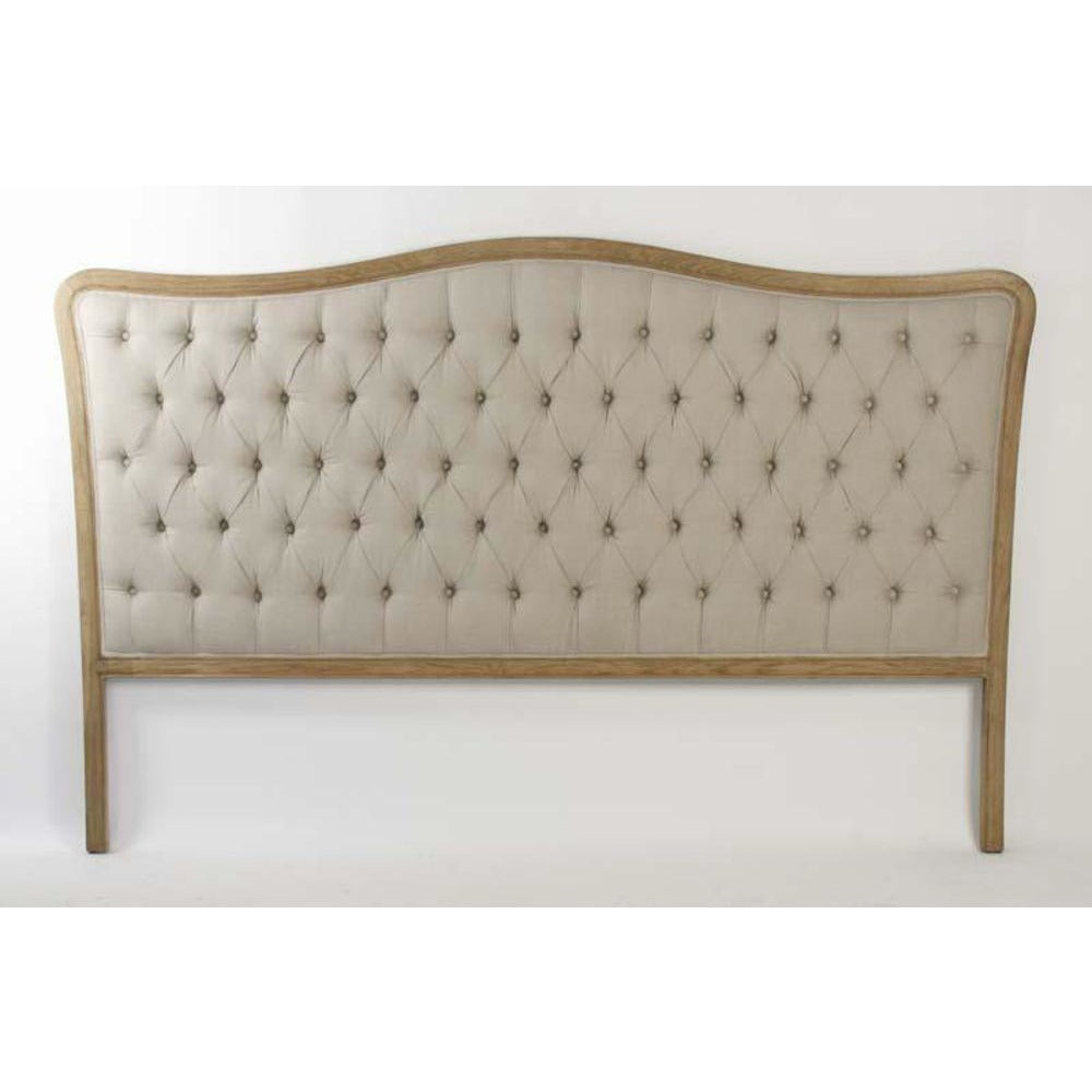 Zentique Maison Tufted Upholstered King Headboard in Natural