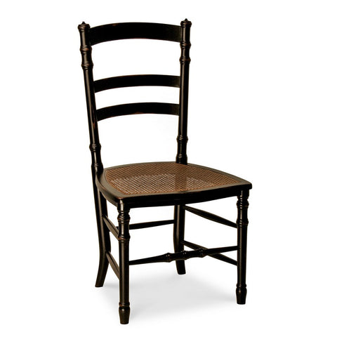 Redford House Swedish Cane Side Chair in Black