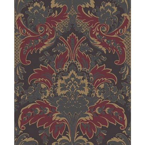 Cole And Son Aldwych Wallpaper in Red/Gold