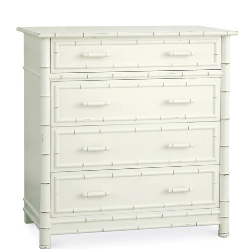 Redford House Faux Bamboo Dresser in White
