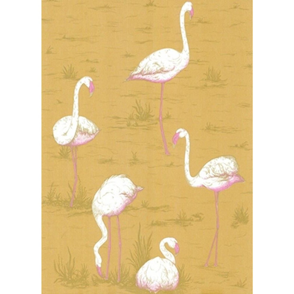 Cole And Son Flamingo Wallpaper in Ochre